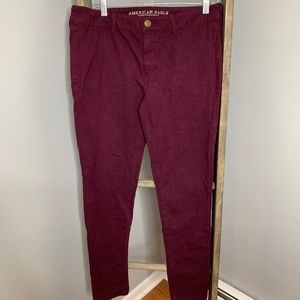 American Eagle Purple Super Stretch Jeggings